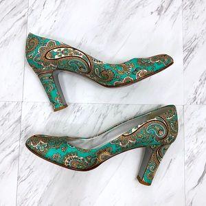 J. Crew Shoes - J. Crew- Fabric Paisley Printed Block Heels SZ 8.5